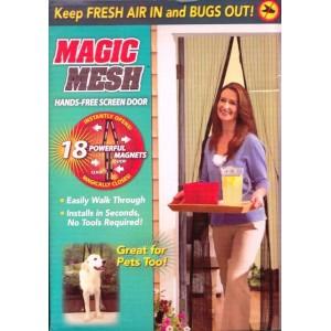 Síť proti hmyzu s magnetickým uzavíráním do dveří, balkónová 205 x 95 cm