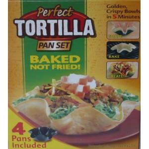 Pečící formy, nepřilnavá pánev Tortilla pan set 4 ks