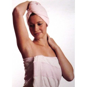 Turban z mikrovlákna na mokré vlasy + hřeben zdarma