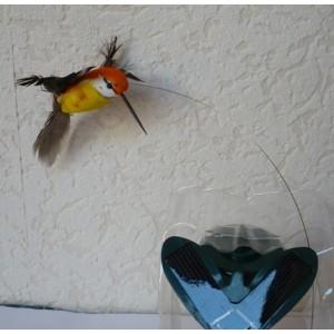 Solární létající kolibřík Solar Hummingbird oranžový