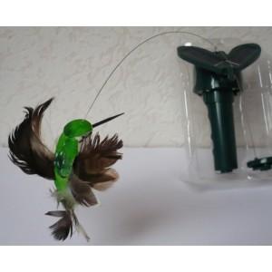 Solární létající kolibřík Solar Hummingbird zelený