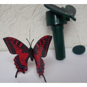 Solární létající motýl Solar Butterlfy Otakárek  červený