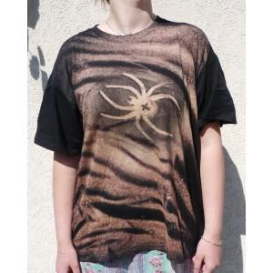Malované tričko ornament pavouk velikost XXL