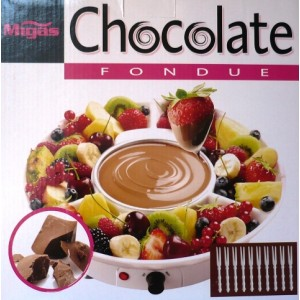 Elektrické čokoládové fondue - Set na přípravu čokoládového fondue