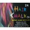 Barevné křídy na vlasy smývatelné barvy 24 ks