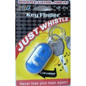 Hledač klíčů Key Finder s LED svítilnou, přívěsek na klíče