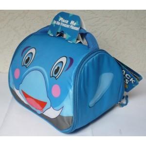 Dětská taška na svačinu chladící box - Snack pets delfín