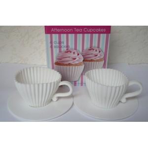 Formy na cupcakes - Čaj o páté (4 ks) silikonové