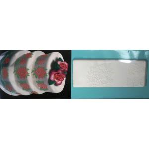 Silikonová šablona na jedlou krajku květ růže