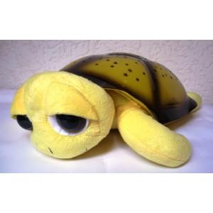 Magická svítící a hrající želva - lampička pro děti na usínání okatá  žlutá