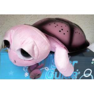 Magická svítící a hrající želva - lampička pro děti na usínání okatá růžová