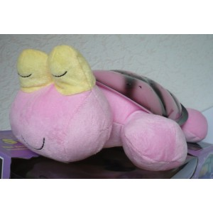 Magická svítící a hrající želva - lampička pro děti na usínání spící růžová