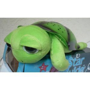 Magická svítící a hrající želva - lampička pro děti na usínání okatá zelená II. jakost (nespolehlivá tlačítka)