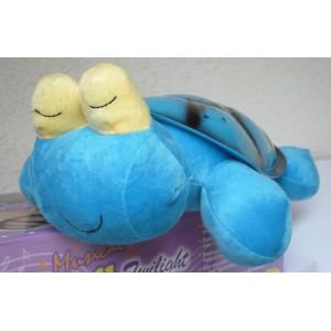 Magická svítící a hrající želva - lampička pro děti na usínání spící modrá