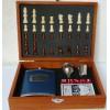 Placatka likérka velká dárková a herní sada, šachy, karty, kostky