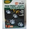 Solární dekorace osvětlení psí tlapky 4 ks