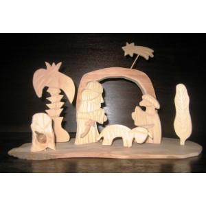 Betlém dřevěný ručně vyřezávaný